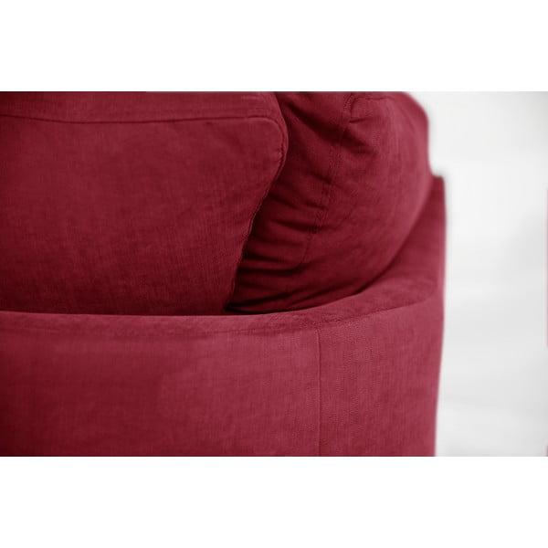 Rohová pohovka Jalouse Maison Irina, ľavý roh, červená