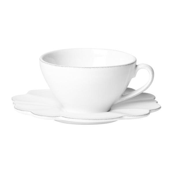 Šálka s tanierikom White Petale, 250 ml