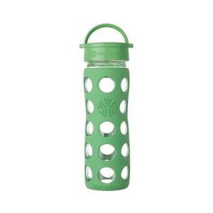 Sklenená fľaša na vodu so silikónovým chráničom Lifefactory Grass Classic, 475 ml