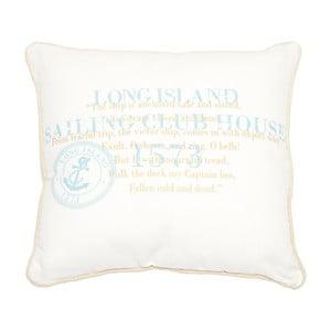 Vankúš Long Island White, 40x40 cm