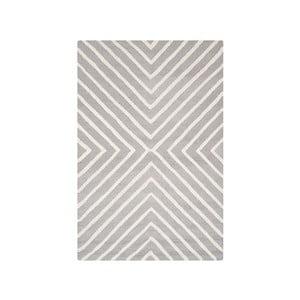 Sivý vlnený koberec Safavieh Prita, 121×182 cm