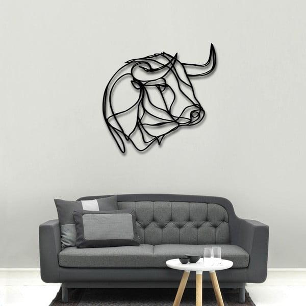 Nástenná drevená dekorácia Bull Head