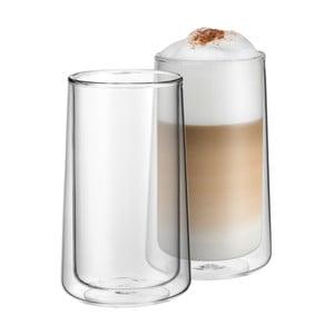 Sada 2 pohárov na latte s dvojitou stenou WMF, výška 13 cm