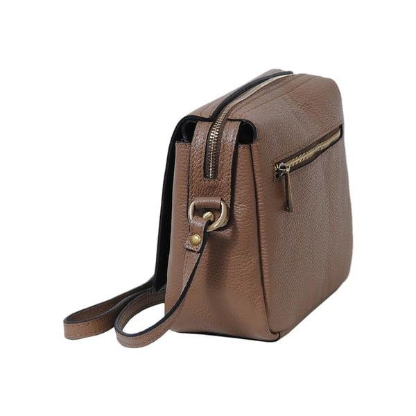 Béžová kabelka z pravej kože Andrea Cardone Alessio