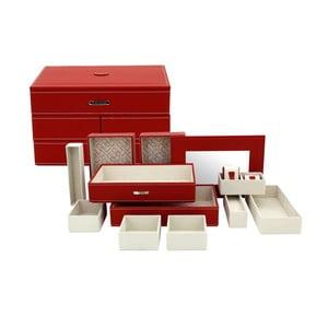 Šperkovnica Module Red, 30x21x18 cm