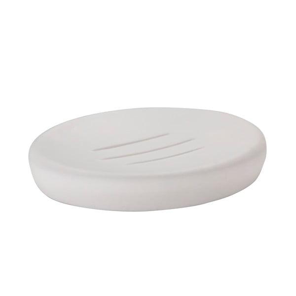 Biela miska na mydlo Zone Soft
