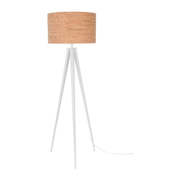 Korková stojacia lampa s bielymi nohami Zuiver Tripod
