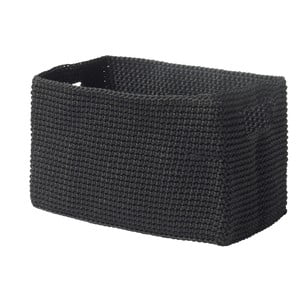 Čierny košík Zone Confetti, 14x22cm