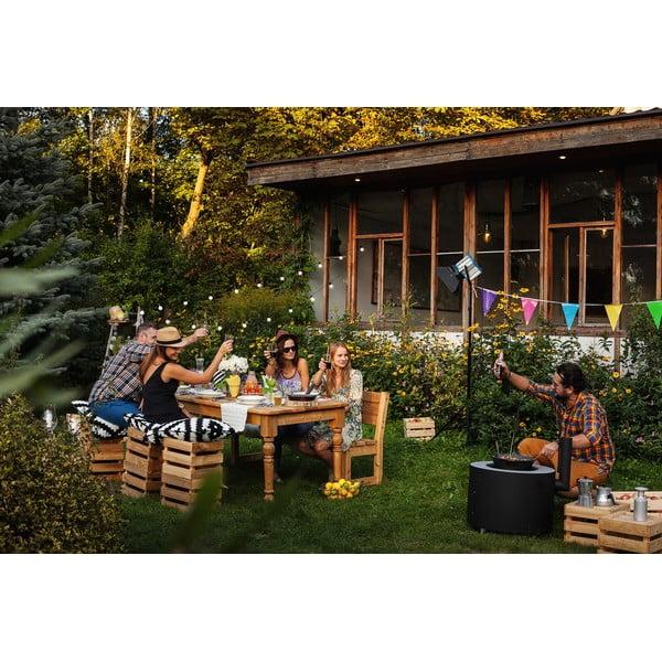 Záhradný stôl Siesta White/Natural, 200x90 cm