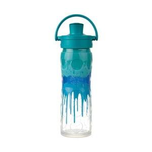 Sklenená fľaša na vodu so silikónovým chráničom Lifefactory Splash Activ Premium, 475 ml