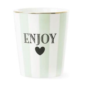 Keramický hrnček Miss Étoile Enjoy Stripe Aqua Green