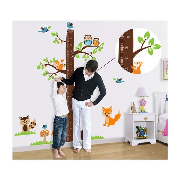 Samolepka na stenu Detský meter