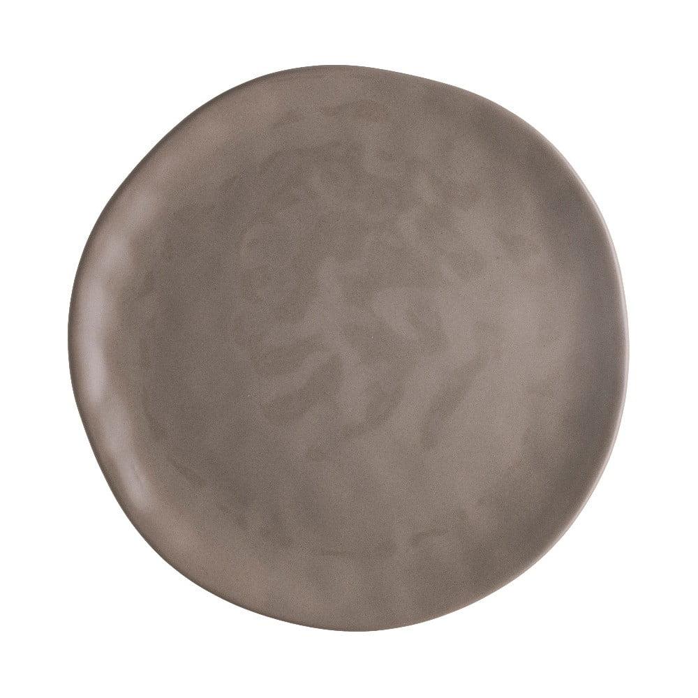 Hnedý porcelánový tanier na pizzu Brandani Pizza, ⌀ 26 cm