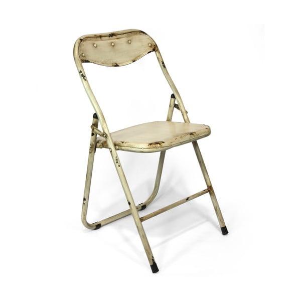 Skladacia stolička Harrison, krémová