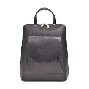 Čierny kožený batoh Anna Luchini Molly