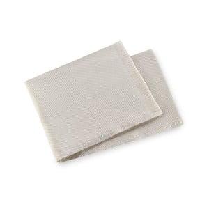 Krémový pléd s podielom bavlny Euromant Tropicana, 140×180 cm