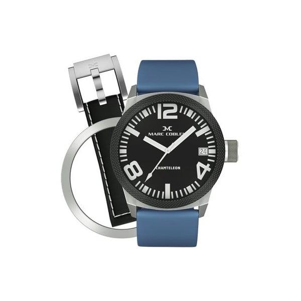 Unisex hodinky Marc Coblen s remienkom a ozdobou ciferníku naviac P10
