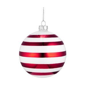 Červeno-biela vianočná závesná ozdoba Butlers, ⌀ 8 cm