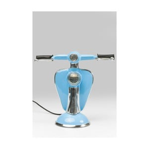 Modrá stolová LED lampa v tvare skútra Kare Design Scooter