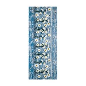 Modrý vysokoodolný koberec Webtappeti Camomilla, 58 x 80 cm