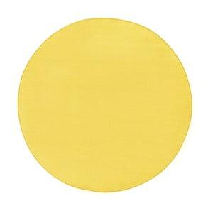 Žltý koberec Hanse Home, Ø 133 cm