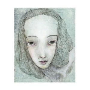 Autorský plagát od Lény Brauner Siv slečna, 50x60 cm