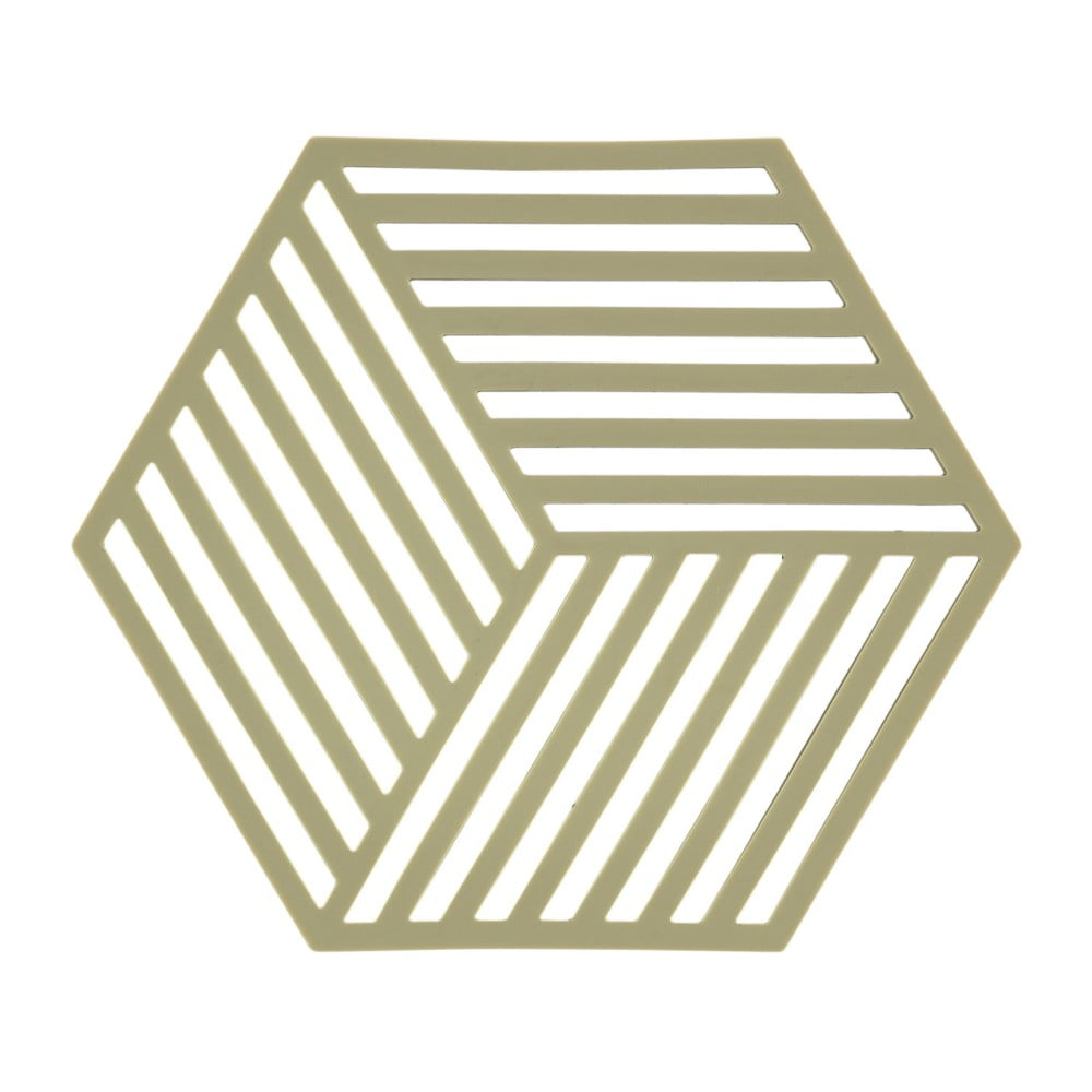 Zelená silikónová podložka pod horúce nádoby Zone Hexagon
