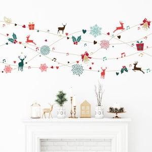 Vianočná samolepka Ambiance Tinsel Design