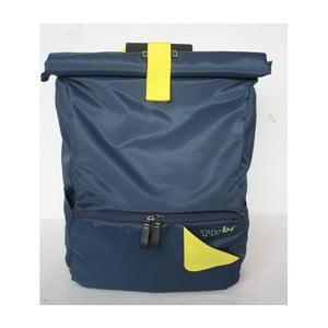 Veľký batoh na bicykel Tubí, modrá/žltá