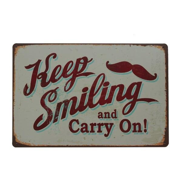 Ceduľa Keep Smiling II, 20x30 cm