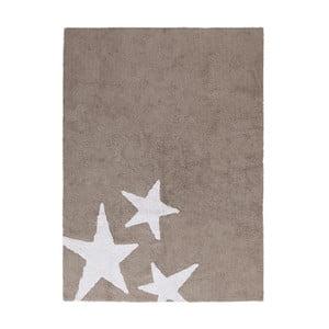 Béžový bavlnený ručne vyrobený koberec Lorena Canals Three Stars, 120 x 160 cm