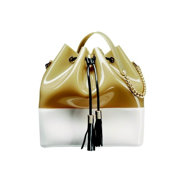 Bielo-béžová plastová kabelka Kartell Grace K