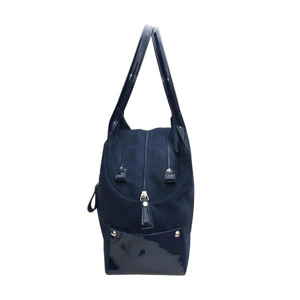 Kožená kabelka Boscollo Navy 2219