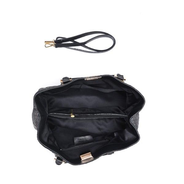 Kožená kabelka Coge, čierna
