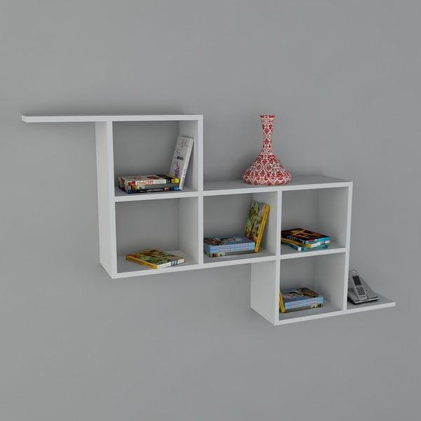 Polica Zeta Book White, 22x147,2x82,2 cm