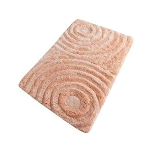 Lososová kúpeľňová predložka Confetti Bathmats Wave Somon, 60 x 100 cm