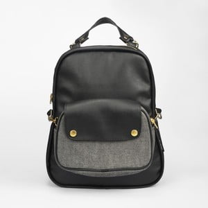 Batoh Mum-ray Egg Black Denim Pocket