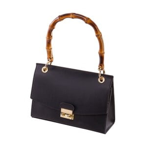 Čierna kabelka z pravej kože Andrea Cardone Drina