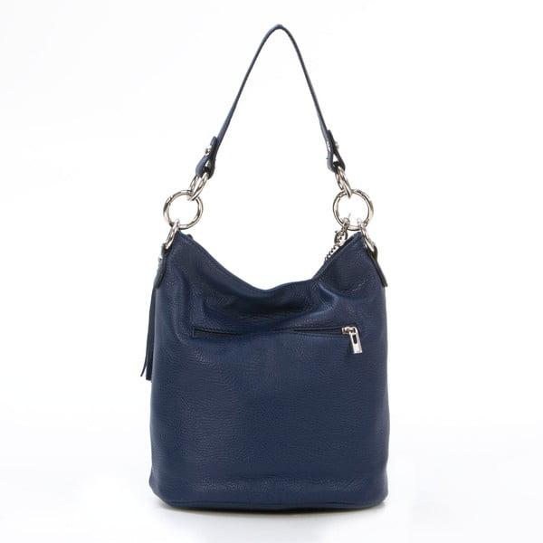 Kožená kabelka Luigi, tmavo modrá