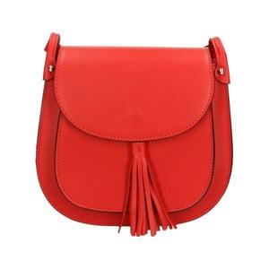 Červená kožená kabelka Roberto Buono Kara