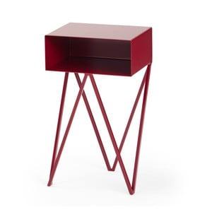 Bordó nočný stolík &New Mini Robot
