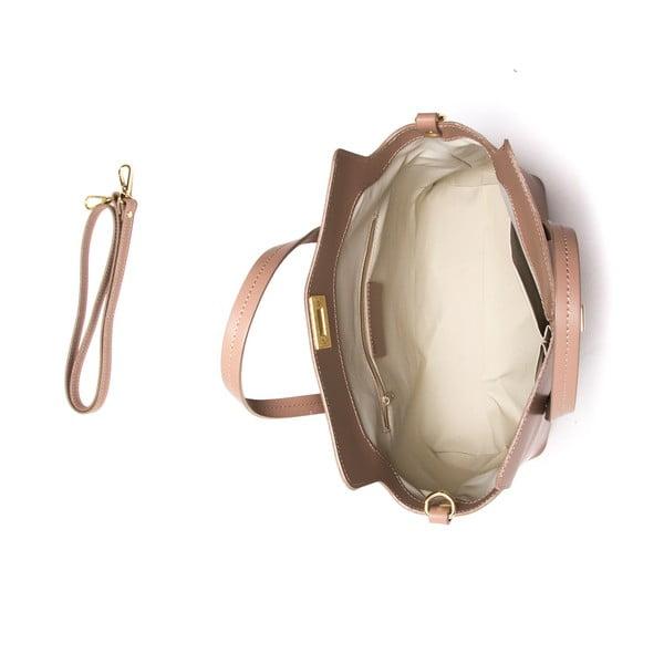 Kožená kabelka Mangotti 387 Fango