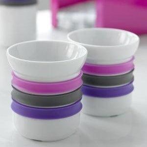 Sada 2 porcelánových hrnčekov na kávu Steel Function Porto, 150 ml