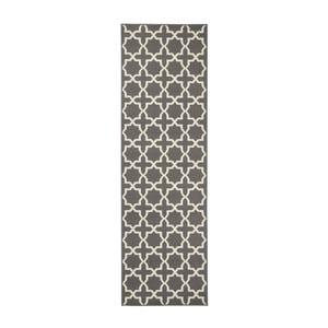 Sivý behúň s bielymi detailmi Hanse Home Joanne, 80×450 cm