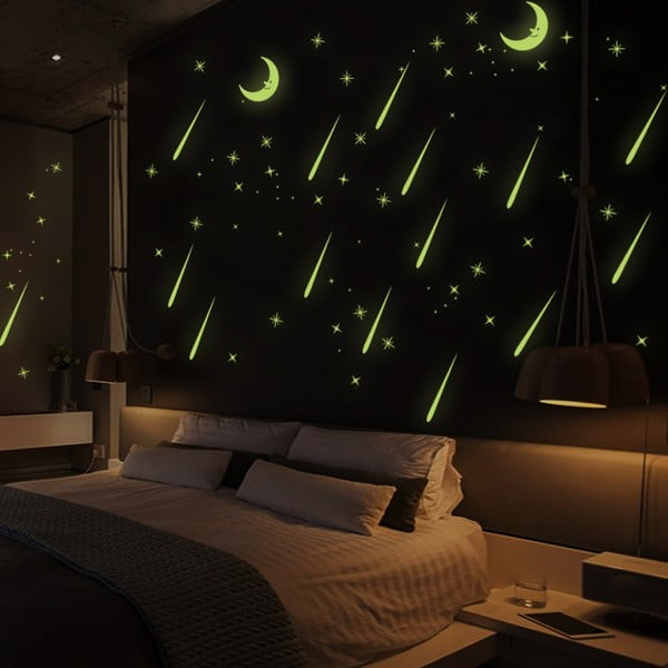 Samolepka svietiaca v tme Ambiance Falling Stars