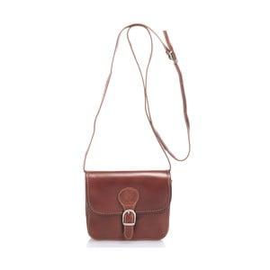 Hnedá kožená kabelka Lisa Minardi Laura
