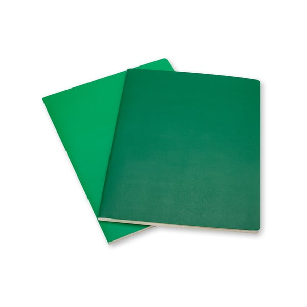 Sada 2 zelených zápisníkov Moleskine Volant, linajkové