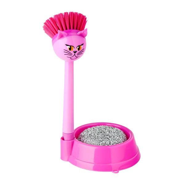 Sada na umývanie riadu Vigar Pink Cat