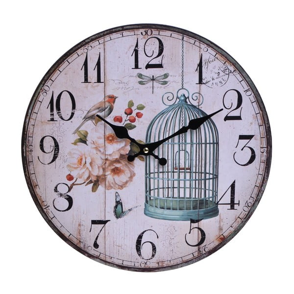 Nástenné hodiny Vintage Cage, 33,8 cm