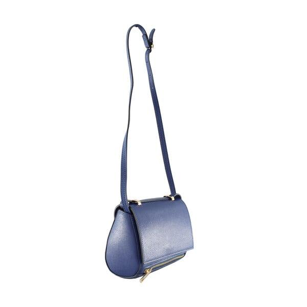 Kožená taška cez rameno Sonja, modrá